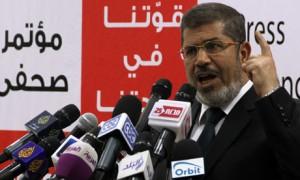 Egypt Muslim Brotherhood presidential candidate Mohamed Morsie