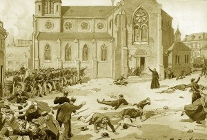 Less than four months before the congress, in the French town of Fourmies, the French army opened fire on a manifestation of strikers demanding the eight-hour day.